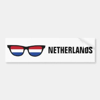Texto de las sombras holandesas y bumpersticker de pegatina para auto