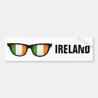 Texto de las sombras irlandesas y bumpersticker de pegatina para auto