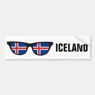 Texto de las sombras islandesas y bumpersticker de pegatina para auto