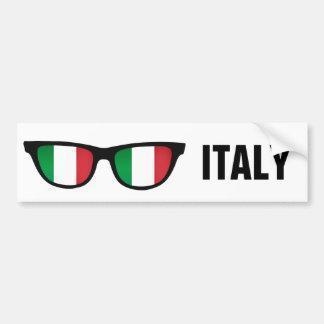 Texto de las sombras italianas y bumpersticker de pegatina para auto