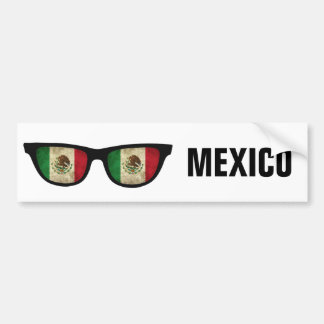 Texto de las sombras mexicanas y bumpersticker de pegatina para auto