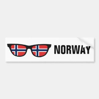 Texto de las sombras noruegas y bumpersticker de pegatina para auto