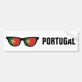 Texto de las sombras portuguesas y bumpersticker pegatina para auto