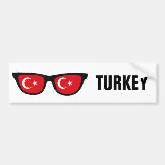 Texto de las sombras turcas y bumpersticker de pegatina para auto
