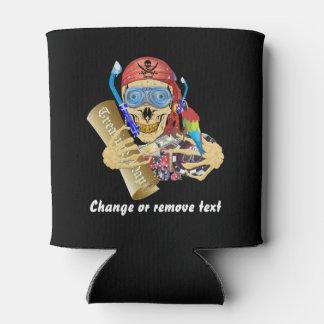 Texto de los diseños del pirata 2 de la piscina de enfriador de latas