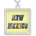 Texto de New México, los E.E.U.U. Pendientes Personalizados