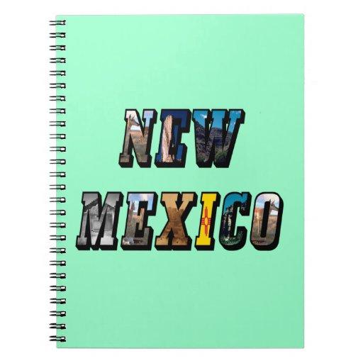 Texto de New México, los E.E.U.U. Libro De Apuntes Con Espiral