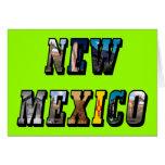 Texto de New México, los E.E.U.U. Tarjeta De Felicitación
