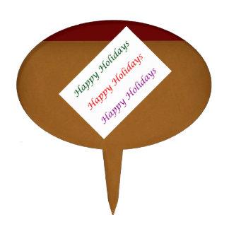 Texto de oro HappyBirthday Decoraciones Para Tartas