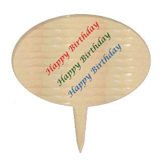 Texto de oro HappyBirthday Figuras Para Tartas