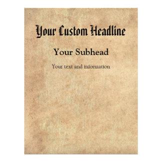 Texto de papel antiguo del personalizado del fondo flyer personalizado