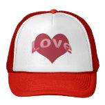 Texto del amor con el corazón gorras de camionero