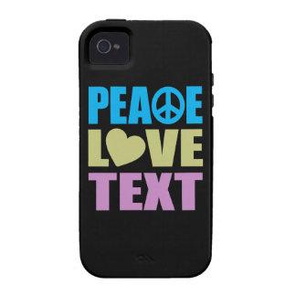 Texto del amor de la paz vibe iPhone 4 carcasa
