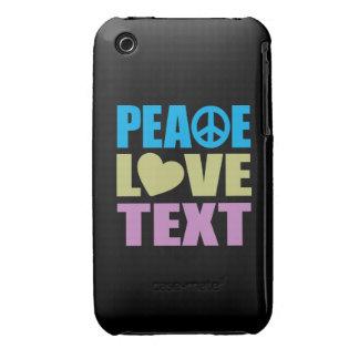 Texto del amor de la paz iPhone 3 cobertura