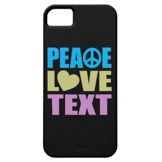 Texto del amor de la paz iPhone 5 Case-Mate coberturas