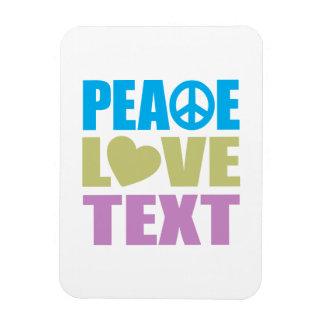 Texto del amor de la paz imán