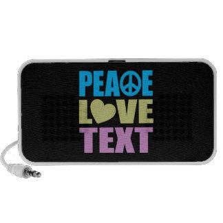 Texto del amor de la paz PC altavoces