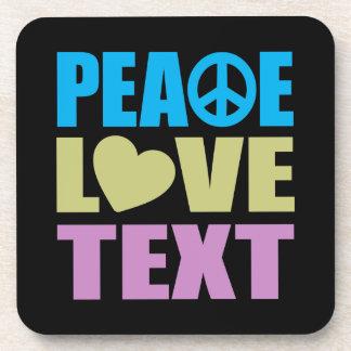 Texto del amor de la paz posavaso