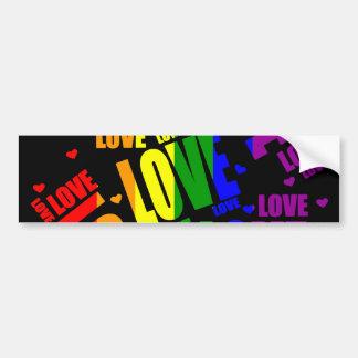 Texto del amor de LGBT Pegatina Para Auto