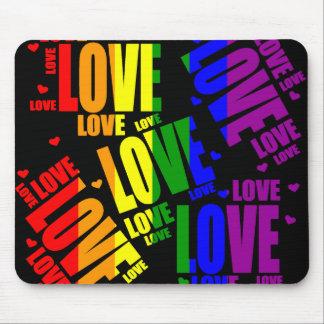 Texto del amor de LGBT Tapetes De Ratones