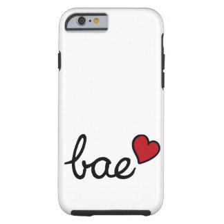 Texto del amor del bebé de Bae y corazón rojo Funda Para iPhone 6 Tough