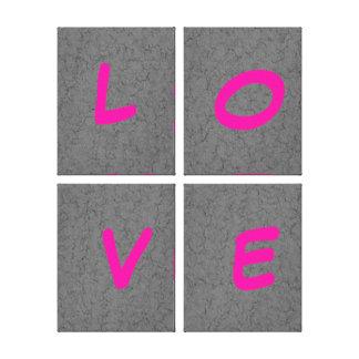 Texto del amor en lona estirada impresión en lona estirada