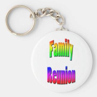 texto del arco iris de la reunión de familia llavero redondo tipo pin