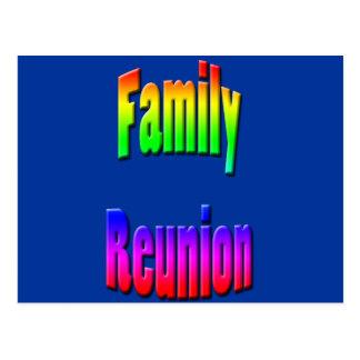 texto del arco iris de la reunión de familia postales
