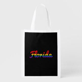 Texto del arco iris de LGBT la Florida Bolsa Para La Compra