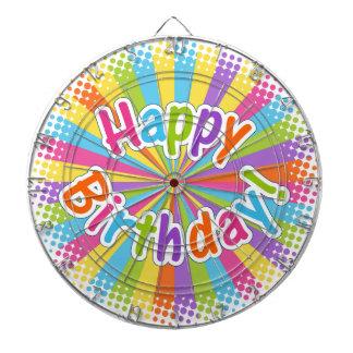 Texto del arco iris del feliz cumpleaños