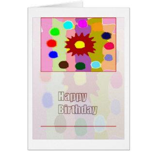 Texto del arte n HappyBirthday de la flor Tarjeta De Felicitación