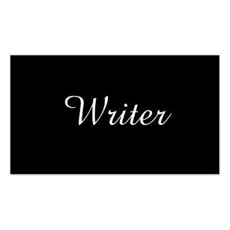 Texto del autor el | del escritor el | tarjetas de visita