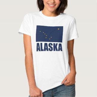 Texto del azul de la bandera de Alaska Playera
