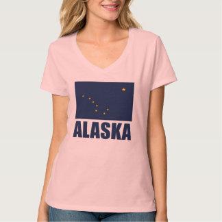 Texto del azul de la bandera de Alaska Polera