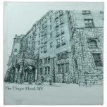 Texto del azul del hotel de Thayer Servilleta Imprimida