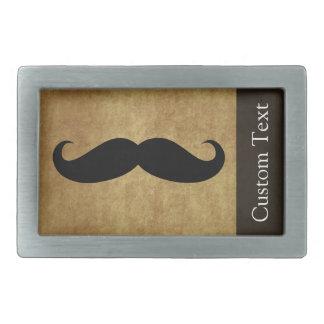 Texto del bigote w/Custom del vintage Hebilla De Cinturon Rectangular