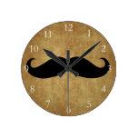 Texto del bigote w/Custom del vintage Reloj