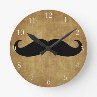 Texto del bigote w Custom del vintage Reloj