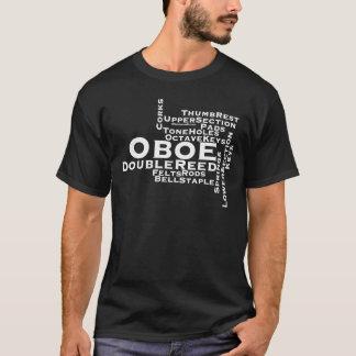 Texto del blanco de la nube de la palabra de Oboe Playera