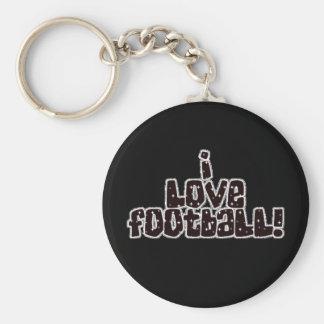 texto del brillo de la plata del negro del fútbol llavero personalizado