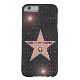 texto del cambio de la estrella de Hollywood de la Funda De iPhone 6 Barely There