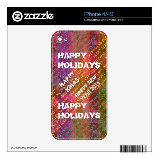 Texto del cambio:  NAVIDAD DIY DEL NAVIDAD DE LOS  Calcomanía Para iPhone 4S