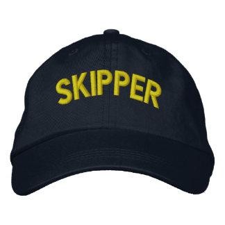 Texto del capitán para los equipos de la gorra de beisbol bordada