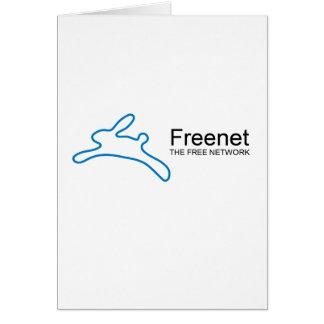 Texto del conejito del freenet tarjeta de felicitación