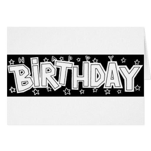 Texto del cumpleaños tarjeta de felicitación