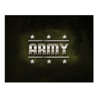Texto del ejército del metal postal