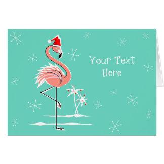 Texto del flamenco del navidad horizontal tarjeta de felicitación