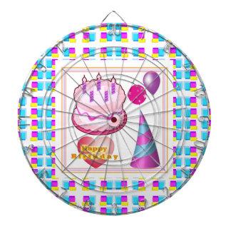 Texto del globo n de la torta de HappyBIRTHDAY