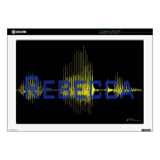 Texto del gráfico de Rebecca Sononome Skins Para 43,2cm Portátiles