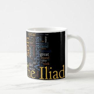 Texto del Iliad por home run Taza